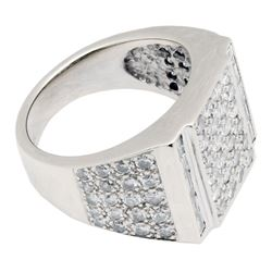 3.90 ctw Diamond Ring - 18KT White Gold