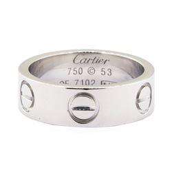 Cartier Love Ring - 18KT White Gold