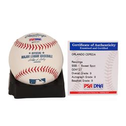 Orlando Cepeda Autographed Baseball With Stats