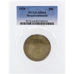 1926 Sesquicentennial Commemorative Half Dollar PCGS MS64