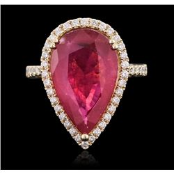 9.84 ctw Ruby and Diamond Ring - 14KT Yellow Gold