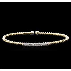 0.44 ctw Diamond Bracelet - 14KT Yellow Gold