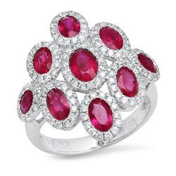 14K White Gold 3.26CTW Diamond Ring, (SI2/G)