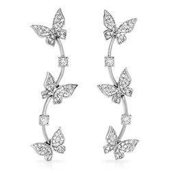 18k White Gold 1.45CTW Diamond Earrings, (SI1-SI2/G-H)