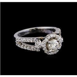 1.13 ctw Diamond Ring - 14KT White Gold