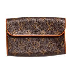 Louis Vuitton Monogram Canvas Leather Florentine Pochette Bag