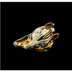 18KT Yellow Gold Zebra Ring