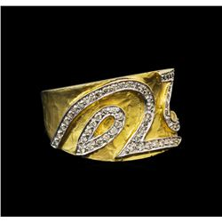 14KT Two-Tone Gold 0.86 ctw Diamond Ring