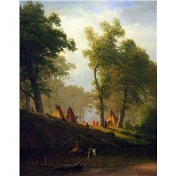 Wolf River, Kansas by Albert Bierstadt