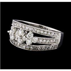 0.73 ctw Diamond Ring - 14KT White Gold