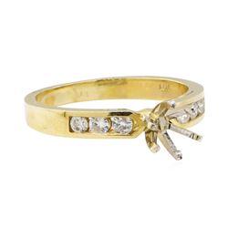 0.25 ctw Diamond Semi-Mount Ring - 14KT Yellow Gold