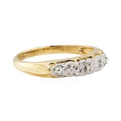 0.03 ctw Diamond Ring - 14KT Yellow and White Gold