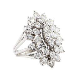 5.09 ctw Diamond Ring - 14KT White Gold