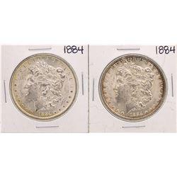 Lot of (2) 1884 $1 Morgan Silver Dollar Coins