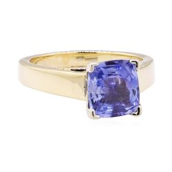 3.58 ctw Blue Sapphire Ring - 14KT Yellow Gold