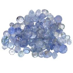11.28 ctw Round Mixed Tanzanite Parcel