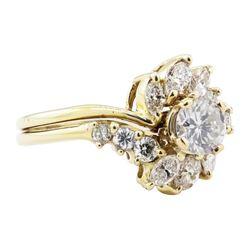 1.15 ctw Diamond Ring - 14KT Yellow Gold