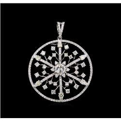 3.55 ctw Diamond Pendant - 18KT White Gold