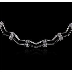 14KT White Gold 0.86 ctw Diamond Necklace