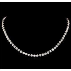 18KT White Gold 16.50 ctw Diamond Necklace