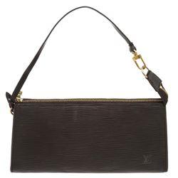 Louis Vuitton BlackEpi Leather Pochette Shoulder Bag