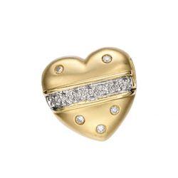 14k Yellow Gold 0.12CTW Diamond Pendant, (SI3/G-H)