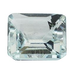 6.61 ct.Natural Emerald Cut Aquamarine