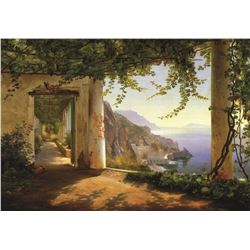 Carl Aagaard View Of Amalfi Coast
