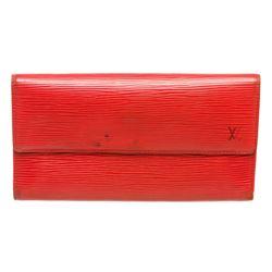 Louis Vuitton Red Epi Leather International Wallet