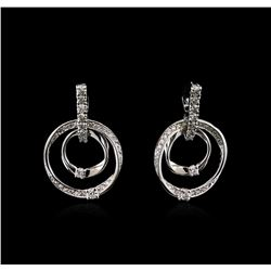 1.46 ctw Diamond Earrings - 14KT White Gold