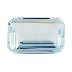 2.17 ct.Natural Emerald Cut Aquamarine