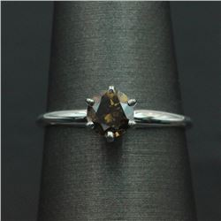 0.74 ctw Diamond Solitaire Ring - 14KT White Gold