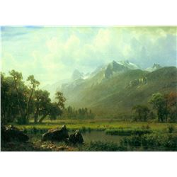The Sierra Near Lake Tahoe, California by Albert Bierstadt