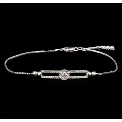 0.67 ctw Diamond Bracelet - 14KT White Gold