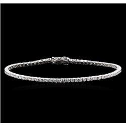 3.20 ctw Diamond Bracelet - 18KT White Gold
