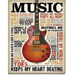 "Music Inspires Me 12.5""Wx16""H"