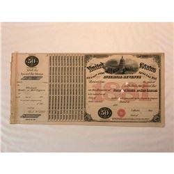 Original 1881 Internal Revenue Malt Liquors Tax Stamp