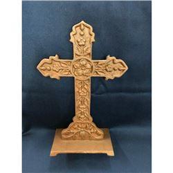 Large Ornate Standing Iron Cross
