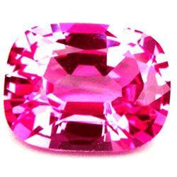3.49cts Aaa Bianco Diamond Pink Sapphire Corundum Octagon Cushion 10x8mm