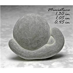 Rare Moon & Clouds Native American Fairy Stone, Calcite Clay Glacial Concretion