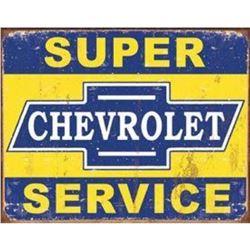 "Super Chevy Service 16""Wx12.5""H"