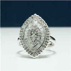 Stunning 2.04ctw Diamond & Sterling Silver Ring