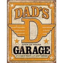 "Dad's Garage 12.5""Wx16""H"