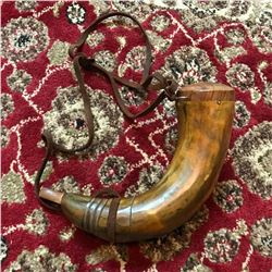 Older Reproduction Revolutionary War Powder Horn, Theatre Movie Prop