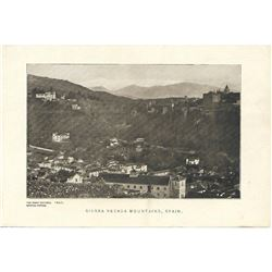 Vintage c1920's half-tone print by Perry Pictures, #1847 Sierra Nevada Mountains, Spain