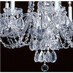 Elegant Crystal & Nickel 8 Light Chandelier