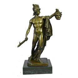 """Perseus with the Head of Medusa Bronze Statue after B. Cellini 15"""" x 12"""""""