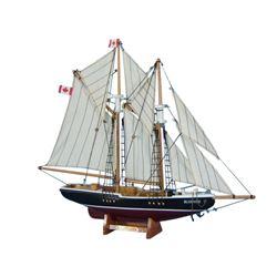 "Wooden Bluenose Model Sailboat Decoration 17"""