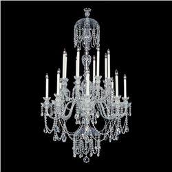 "Winter Elegance - 16 Light Crystal Chandelier with Swarovski - 36"" x 63"""