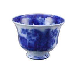 19th c Ironstone Flow Blue Cup